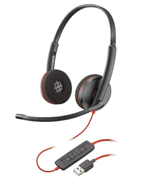 Plantronics Blackwire 3220 USB-A Headset, On-Ear Mono Headset, Wired