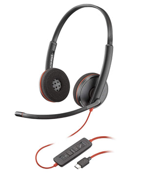 Plantronics Blackwire 3220 USB-C Headset, On-Ear Mono Headset, Wired