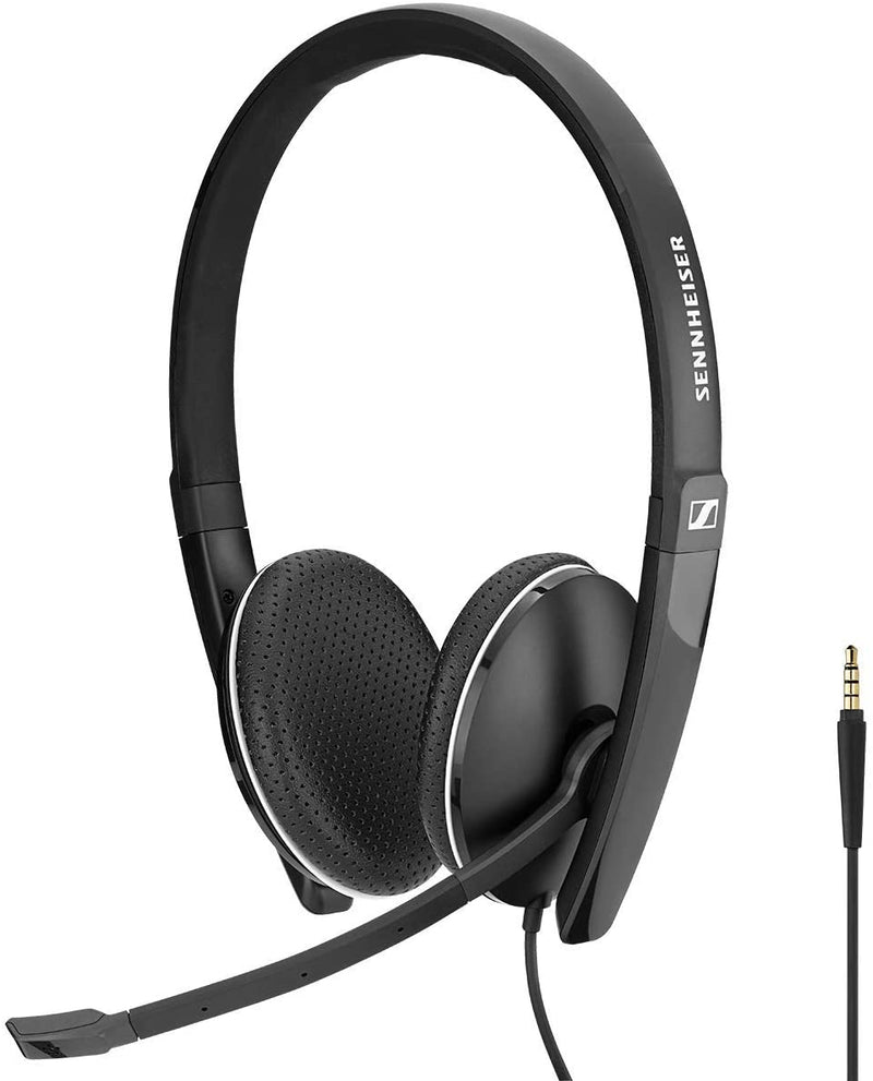 Sennheiser Enterprise Solution SC 165 (508319) - Double-Sided (Binaural) Headset for Business Professionals | with HD Stereo Sound, Noise-Canceling Microphone (Black)