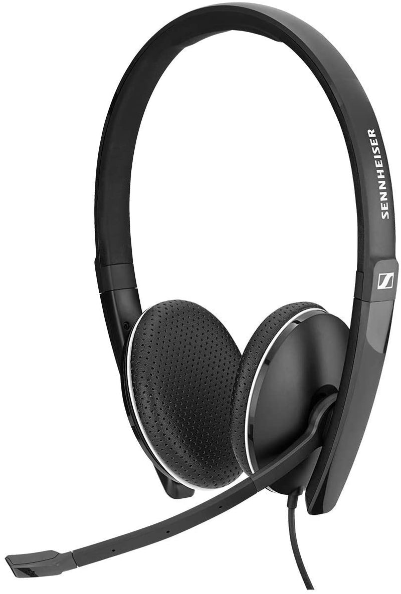 Sennheiser SC 160 USB (508315) - Double-Sided (Binaural) Headset for Business Professionals | with HD Stereo Sound, Noise Canceling Microphone, & USB Connector (Black), Black