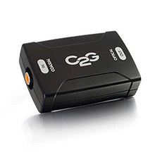 Load image into Gallery viewer, C2G 40018 Coaxial to Toslink Optical Digital Audio Converter, TAA Compliant, Black