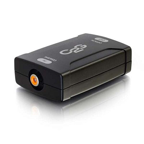 C2G 40018 Coaxial to Toslink Optical Digital Audio Converter, TAA Compliant, Black