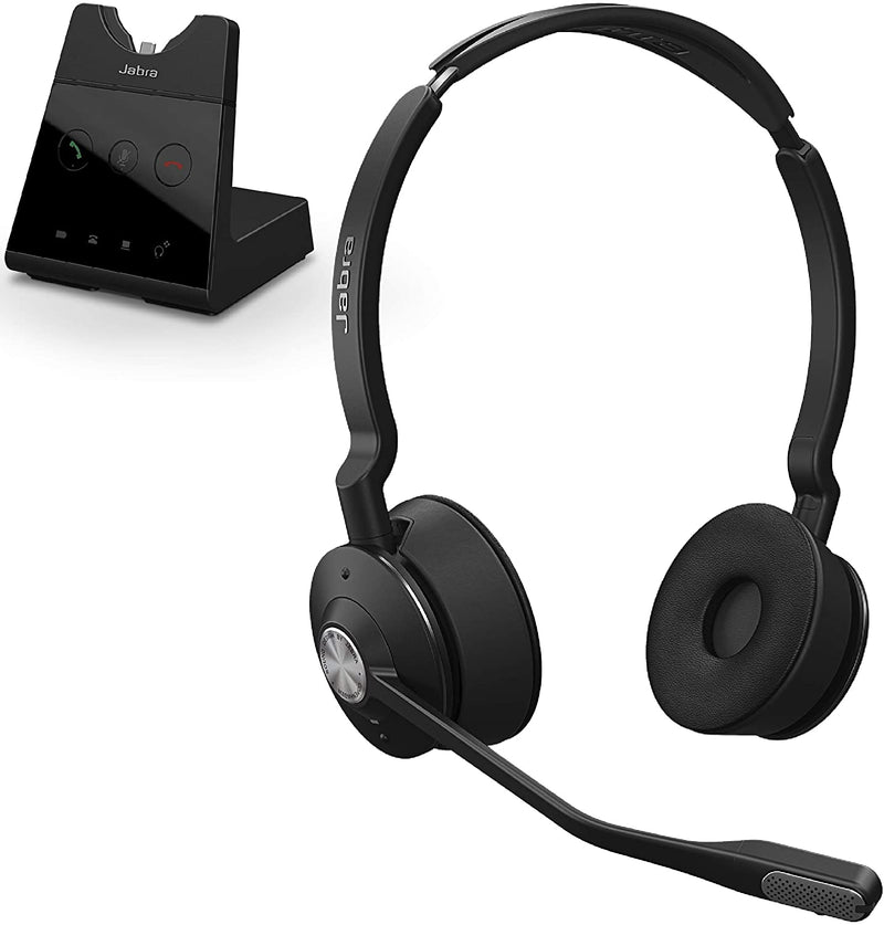 Jabra Engage 65 Wireless Headset, Stereo – Telephone Headset with Industry-Leading Wireless Performance (9559-553-125)
