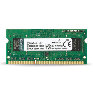 Kingston RAM 4GB 1600MHz PC3-12800 DDR3 Non-ECC CL11 x8(KVR16S11S8/4)