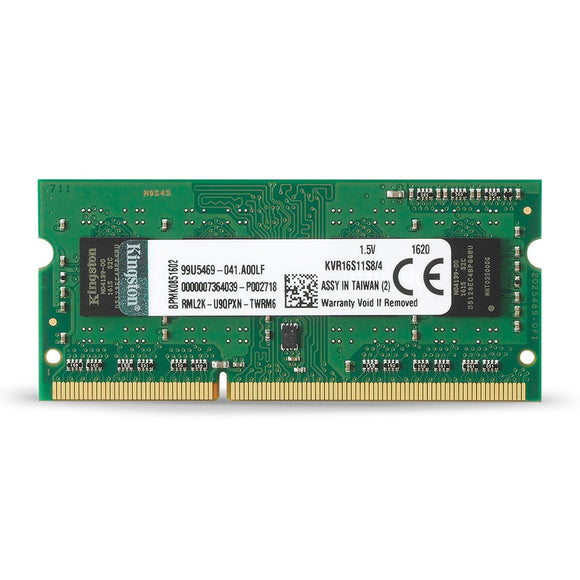 Kingston 4gb Module 1600MHz PC3-12800 DDR3 Non-ECC CL11 x8(KVR16S11S8/4)