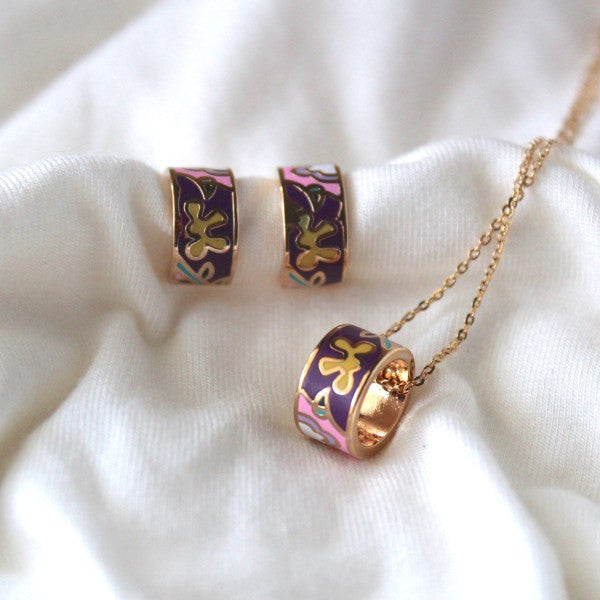 """Empress Catherine"" Necklace and Earrings Set - The Hijab City"