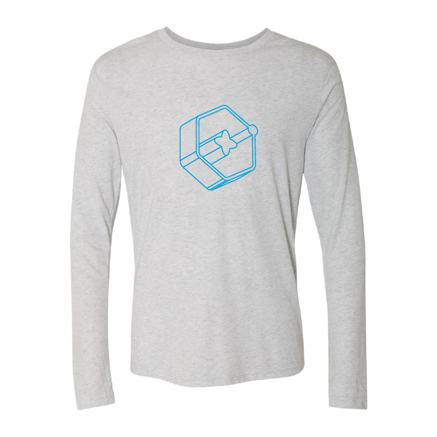 3D Icon Light Blue Long Sleeve Tee
