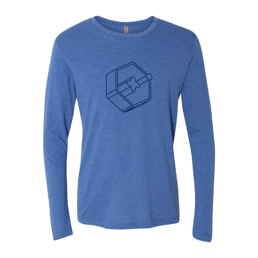 3D Icon Navy Long Sleeve Tee