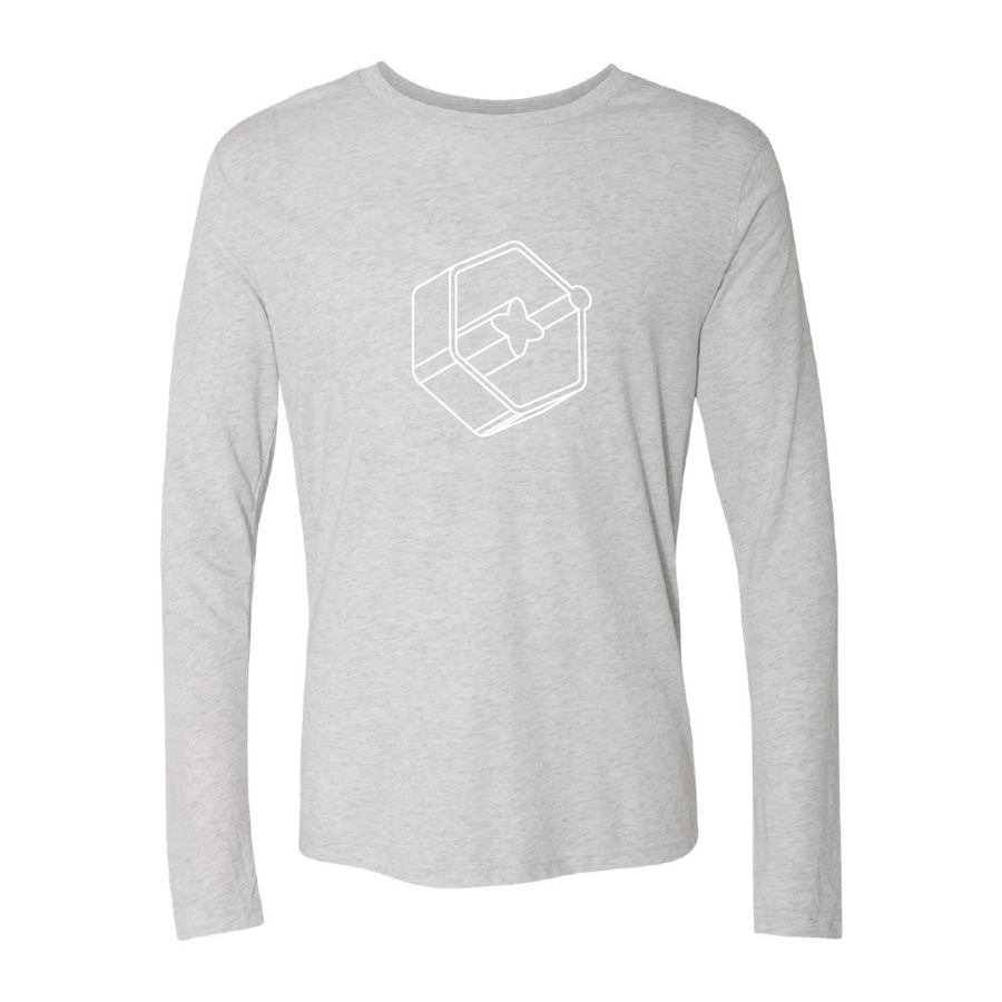 3D Icon White Long Sleeve Tee