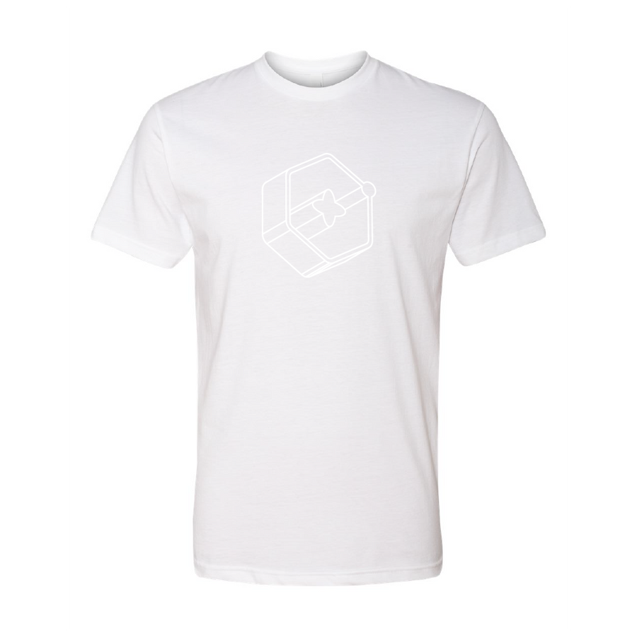 3D Icon White Short Sleeve Tee