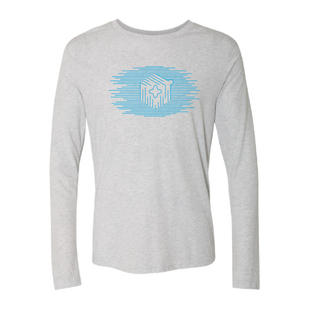 Icon Lines Light Blue Long Sleeve Tee