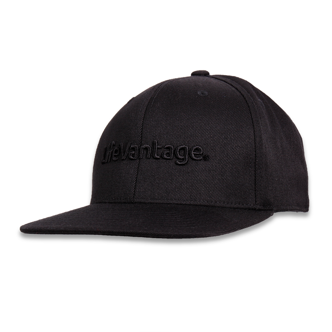 Black Out Flat Bill Hat