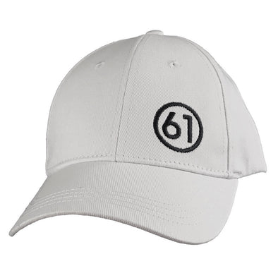 Circle 61 Hat - White, Front
