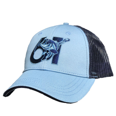 61 Hook Bass Hat - Blue, Front