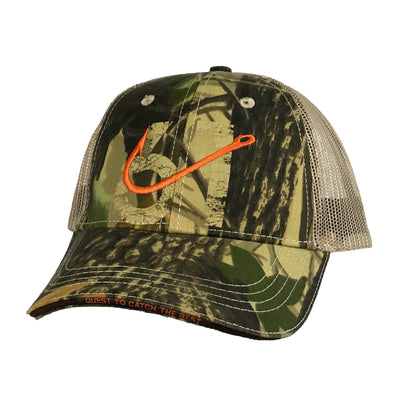 61 Hook Trucker Hat - Camo, Front
