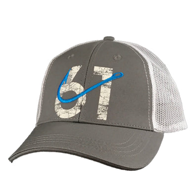 61 Hook Trucker Hat - Gray, Front