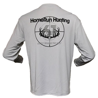 Image of Back of 61 Scope Performance Shirt Light Gray