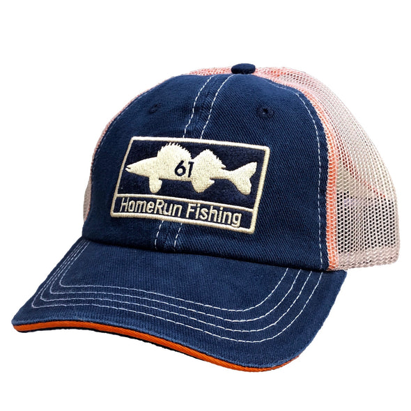 Walleye Patch Hat - Navy