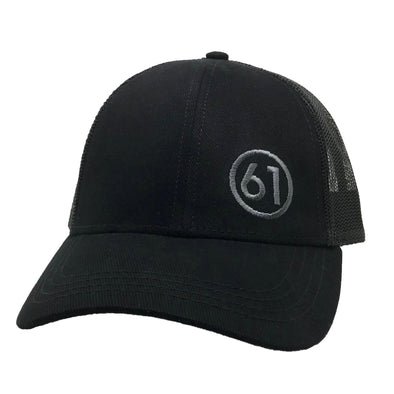 Circle 61 Trucker Hat - Black