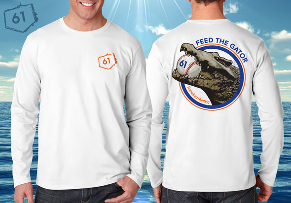 Front & Back views of the Feed The Gator Performance Shirt