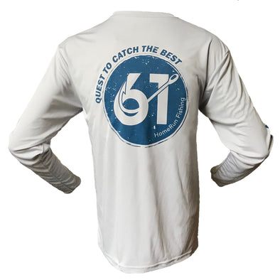 Image of Front of 61 Hook Performance Shirt in Light Gray