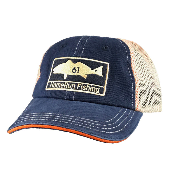 Redfish Patch Hat - Navy, Front