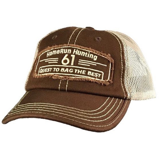 61 Hunt/Bag Brown Patch Hat