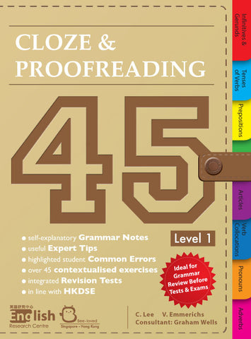 Cloze & Proofreading 45 Level 1 - Kidz Education