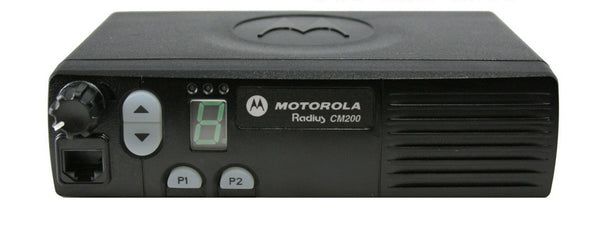 New Motorola CM200 Radius UHF 438-470Mhz 4Ch 40W Mobile Radio Only AAM50RPC9AA1AN