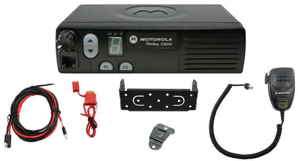 New Motorola CM200 4Ch 40W UHF 438-470Mhz Mobile Radio Police HAM AAM50RPC9AA1AN