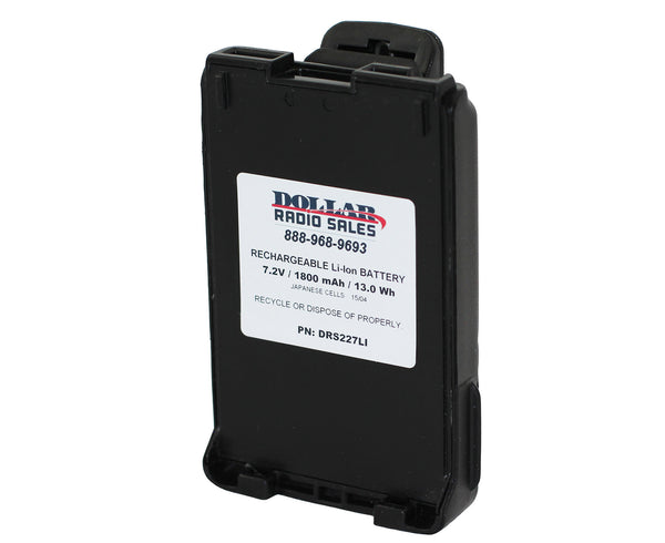 New Replacement Li-Ion 1800mAh Battery for Icom F50 F50V F60 M88 V85 Radios