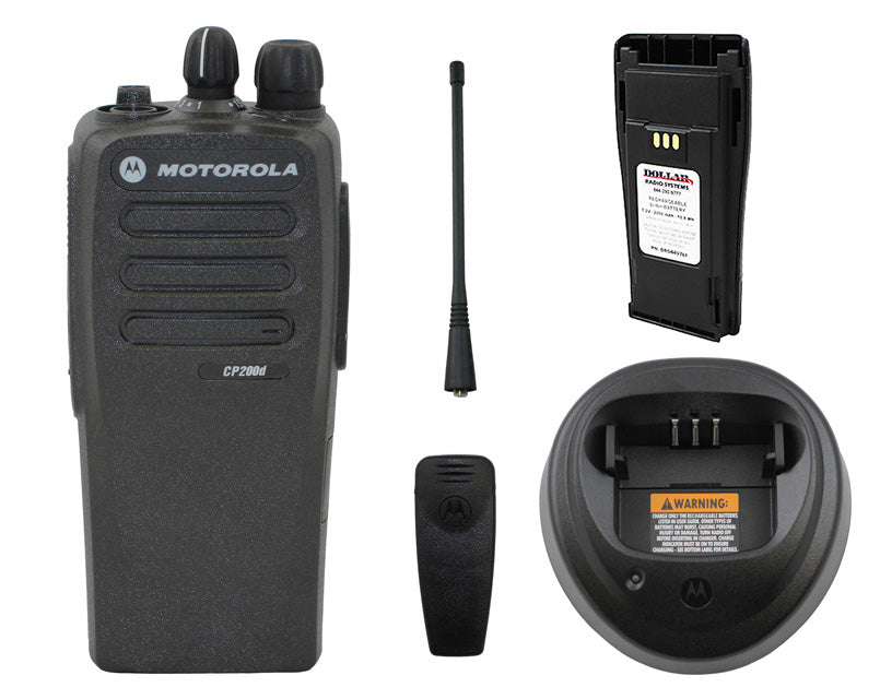 New Motorola CP200D UHF 403-470Mhz 16Ch 4W Digital Analog MotoTRBO Radio AAH01QDC9JC2AN