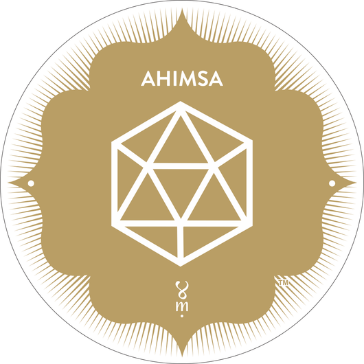 Gold Ahimsa MantraSpot as seen at Wanderlust