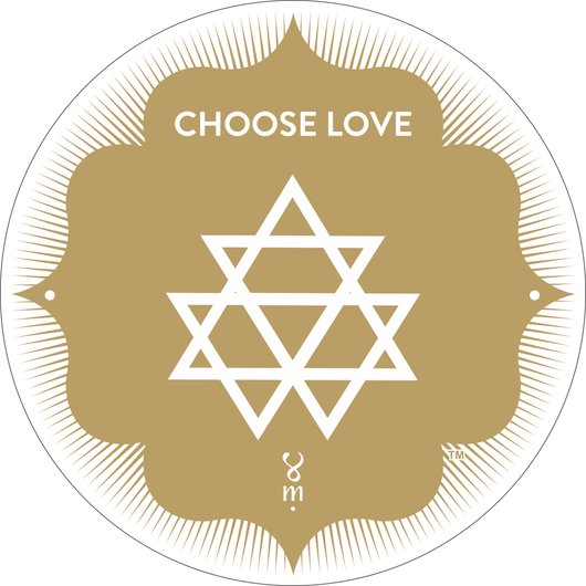 Gold Choose Love MantraSpot as seen at Wanderlust