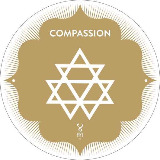 Gold Compassion MantraSpot as seen at Wanderlust