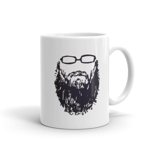 Two-sided Self-portrait 001 Beard and Glasses Mug