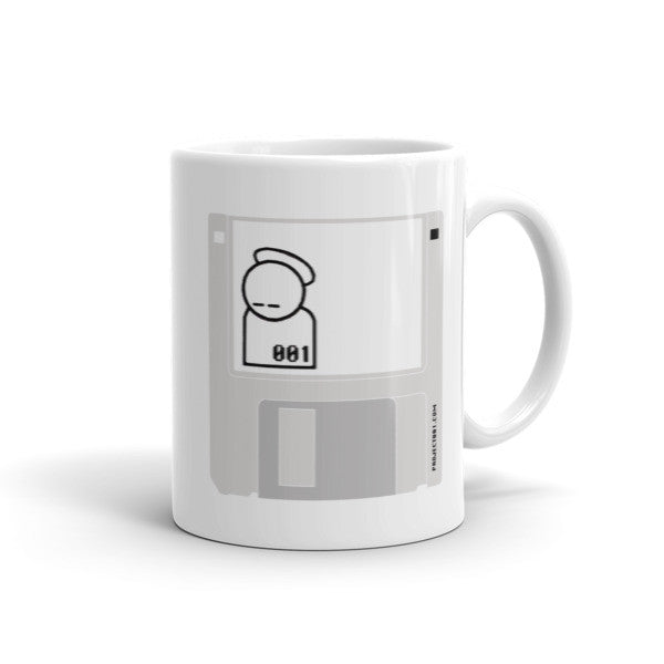 001 zer0zer0one diskette logo Coffee Mug