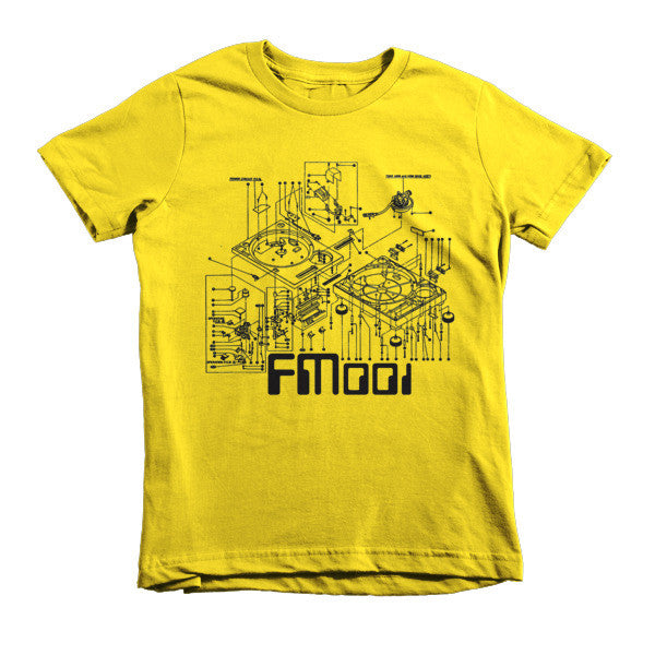 FM001 Turntable Logo Kids Short Sleeve American Apparel Tshirt