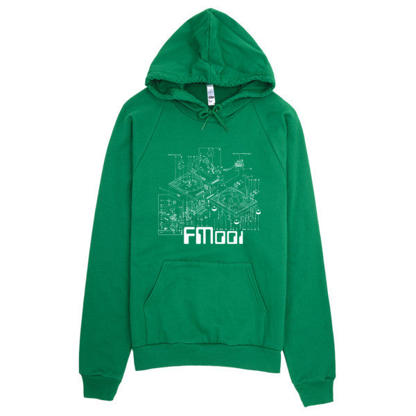 FM001 Turntable Logo American Apparel Pullover Hoodie