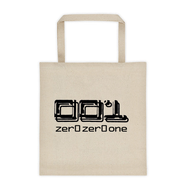001 Tote bag with Turntable Logo on one side and 001 Logo on other