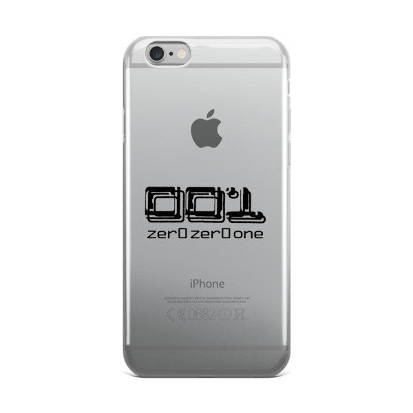 001 zer0zer0one clear iPhone case for 6,6s,6 plus, 6s plus