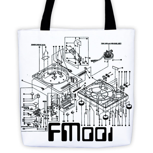 FM001 Turntable Logo Tote bag
