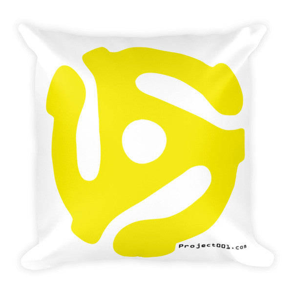 001 zer0zer0one 45 RPM adapter logo Throw Pillow