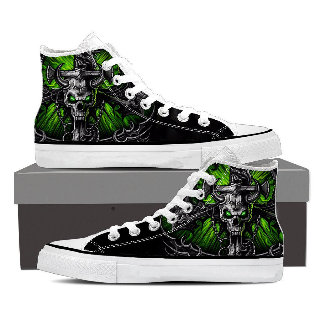 Skull canvas High Shoes (US Size 5-12)