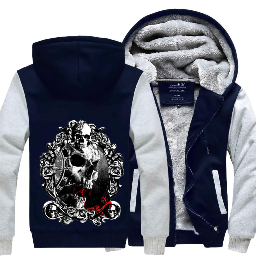 Gothic Skull Jacket winter thicken fleece