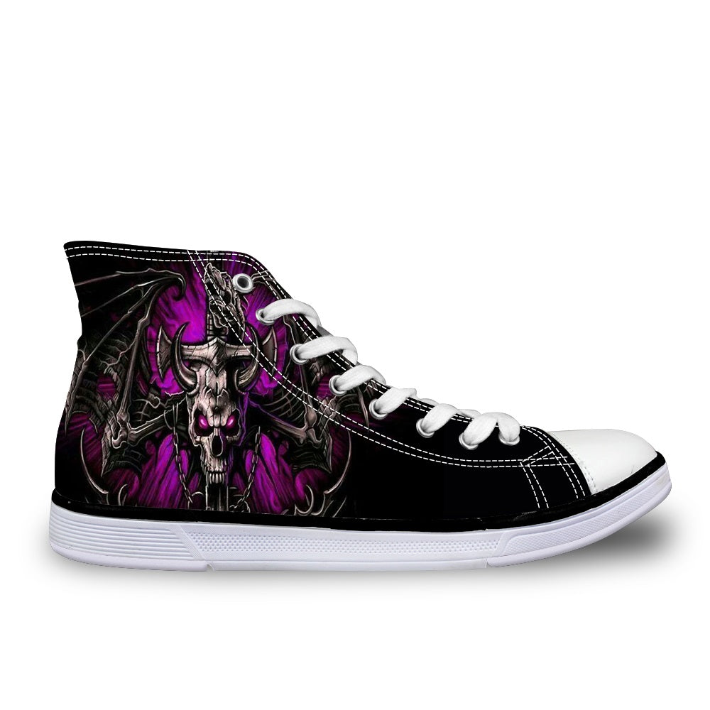 Dragon Skull canvas High Shoes (US Size 5-12)