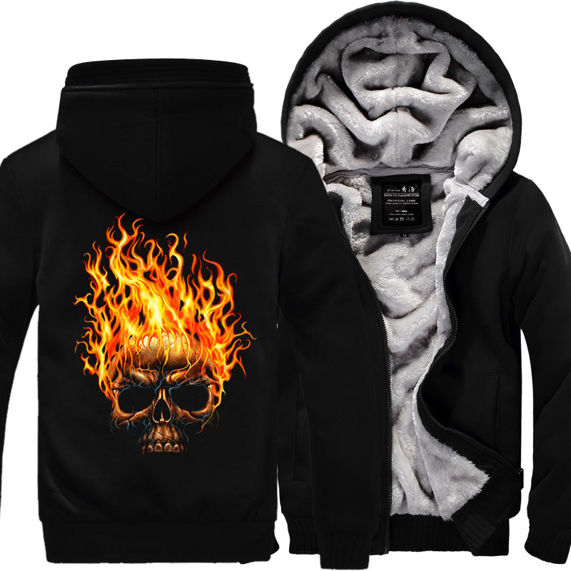 Skull Jacket winter Thicken Fleece