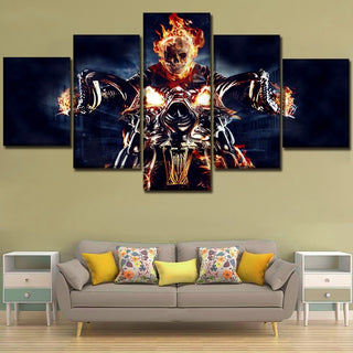 Wall Art Skull And Motorcycle