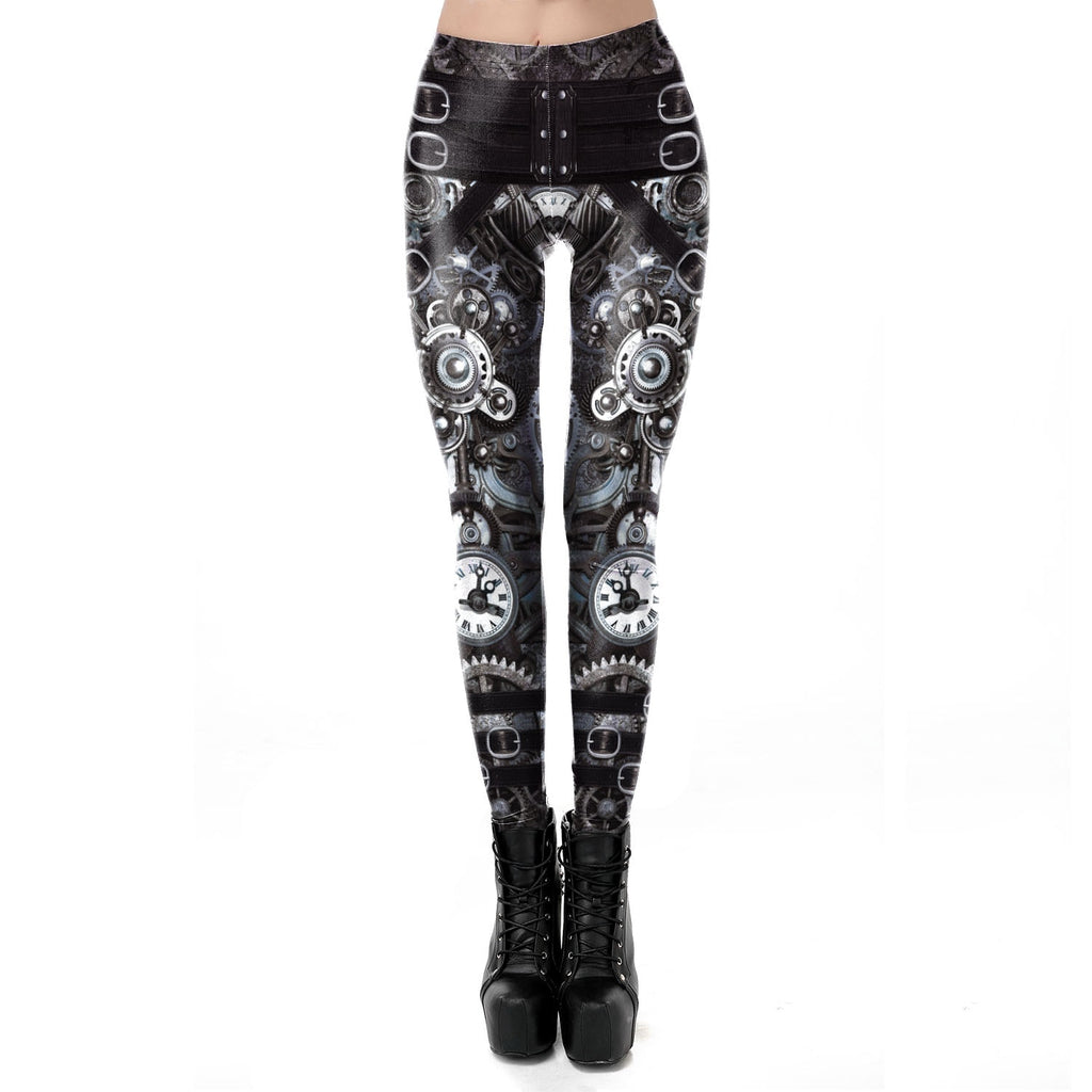 Vintage Mechanical Gear Women Leggings