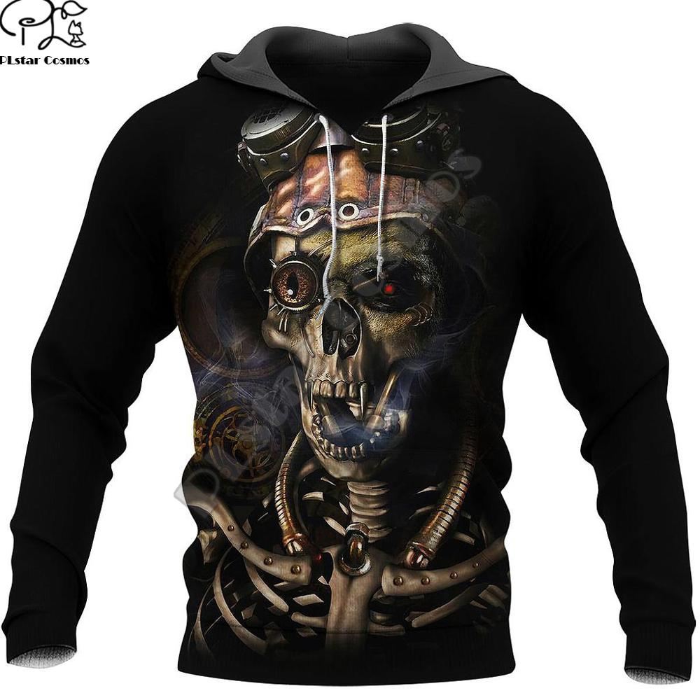 Cosmos Newest Ghost Gothic Skull Hoodies